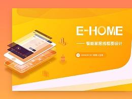E-HOME智能家居线框图设计