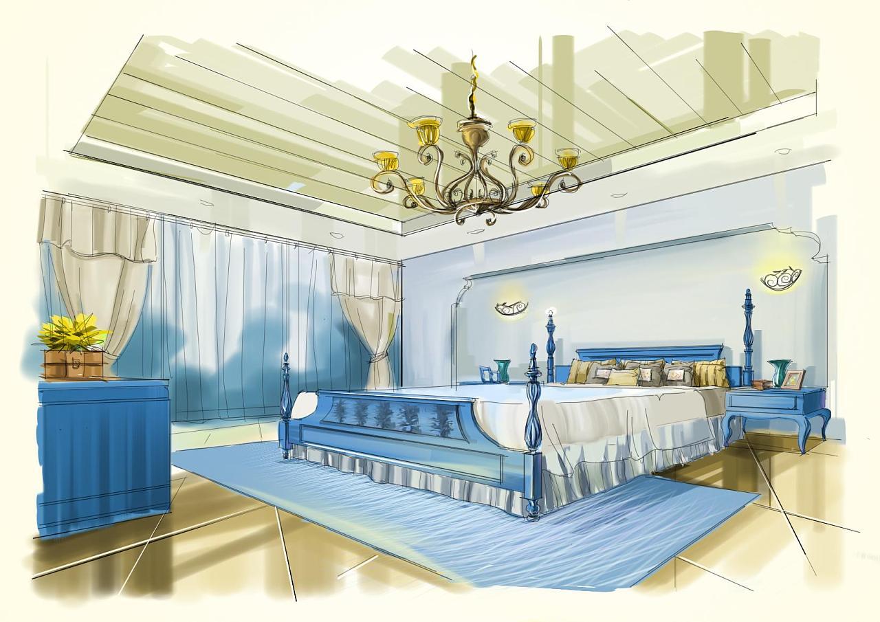室内设计效果图线手绘_电脑手绘室内效果图 空间 室内设计 PURZ - 原创作品 - 站酷 (ZCOOL)