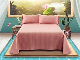 家纺床单详情页海报设计