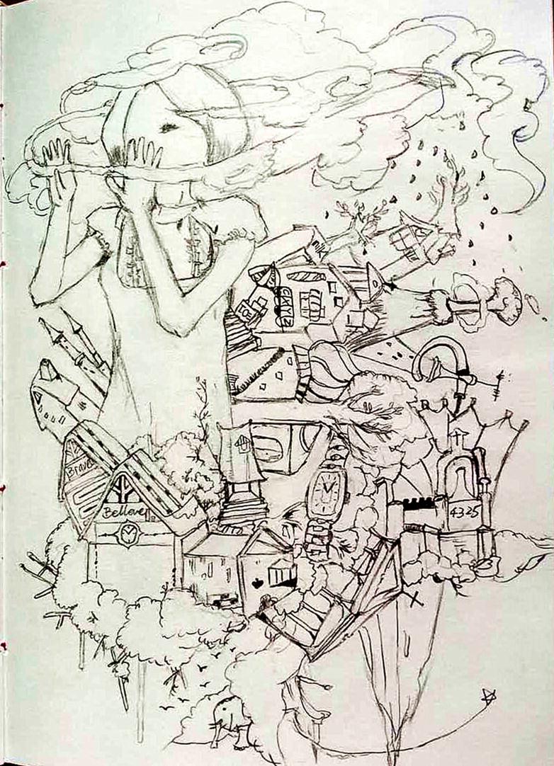 原创作品:黑白手绘