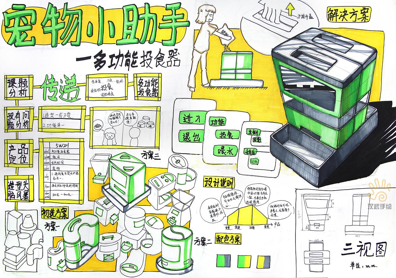 工业设计产品设计考研手绘快题作品图片