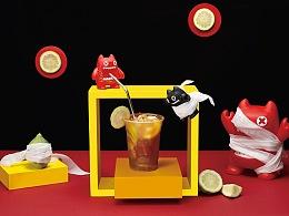 魔鬼猫 创意饮品拍摄