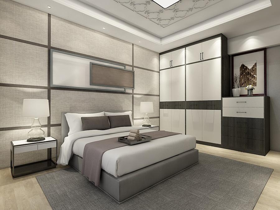现代高级灰男孩房|室内设计|空间|唔系my - 原创设计