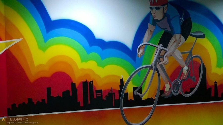 洛阳雏凤彩绘 动感出品--洛阳健身房动感单车