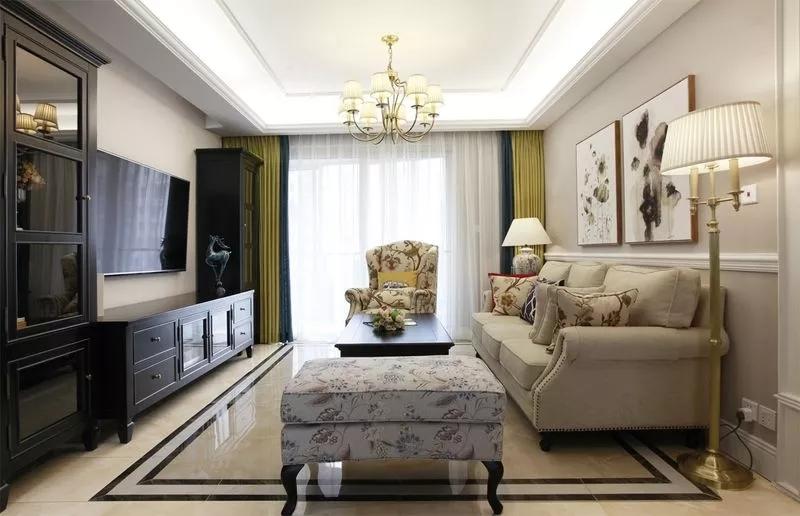 金沙湖高尔夫观邸120平现代美式风格三室两厅装修案例