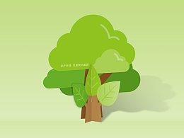 保护环境 共建美好家园的卡片设计