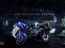 摩托车合成海报