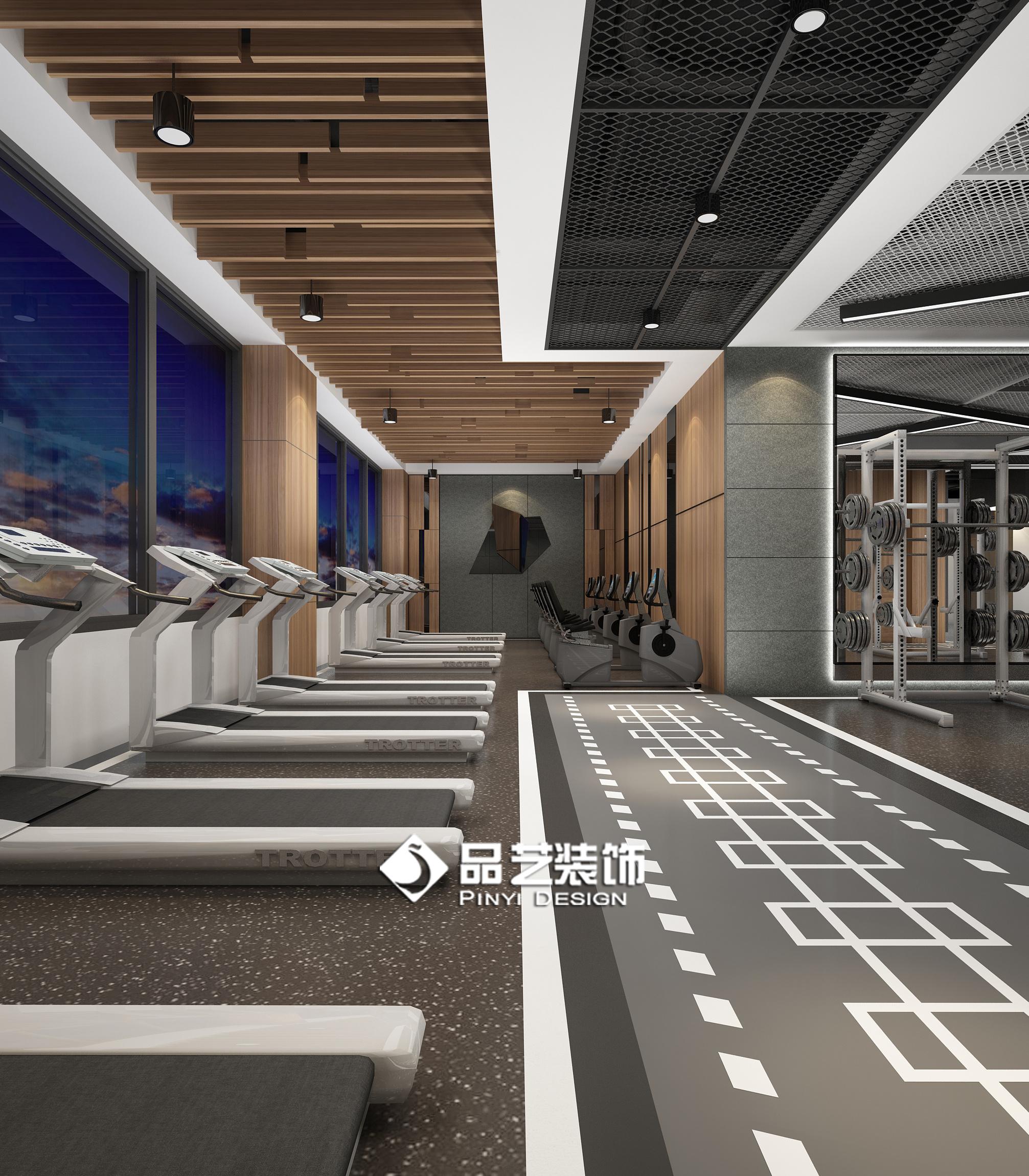 新浪微博_健身房私教工作室瑜伽房装修设计效果图|空间|室内设计|品艺 ...
