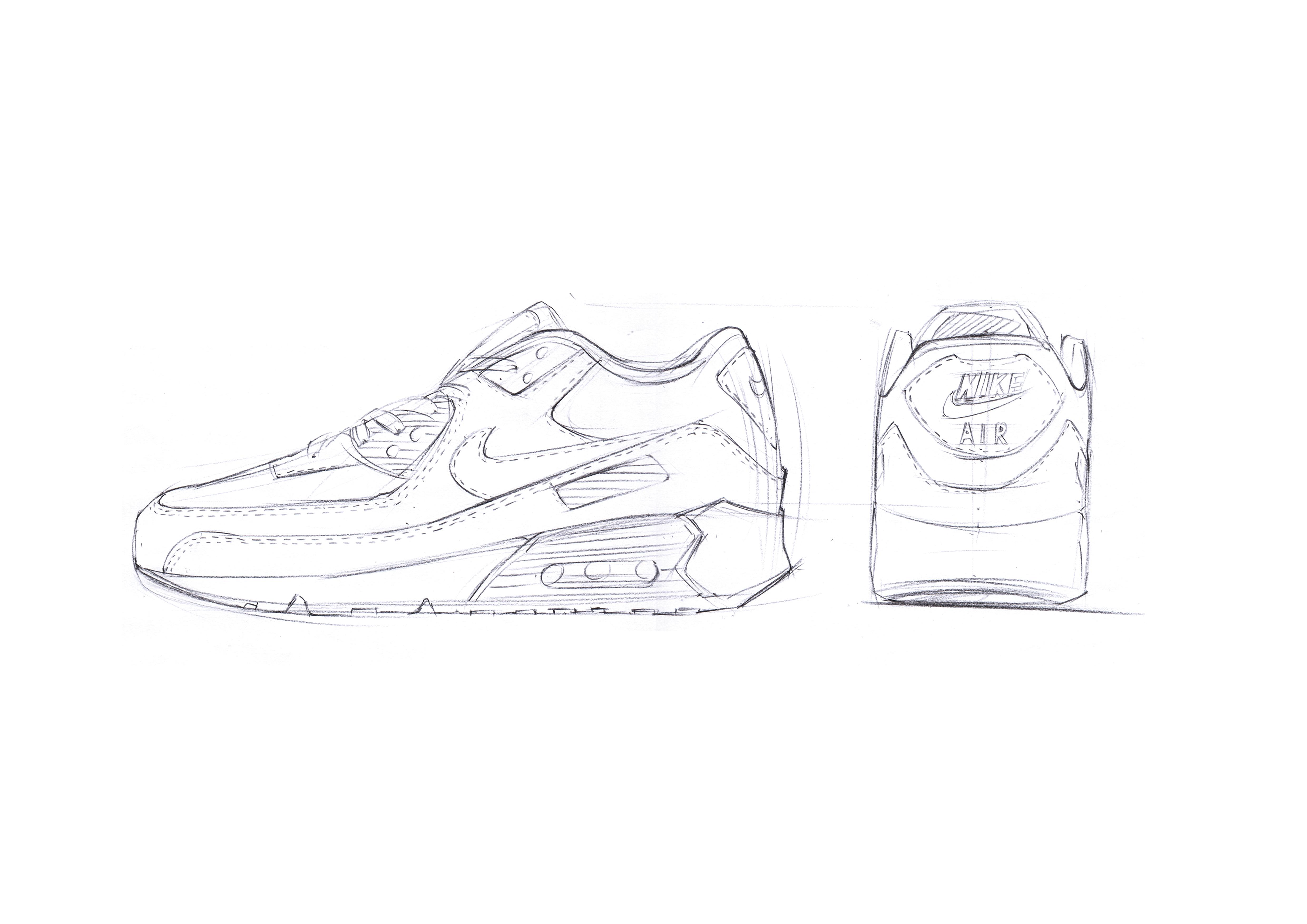 nike运动鞋手绘步鄹|工业/产品|生活用品|马赛mars