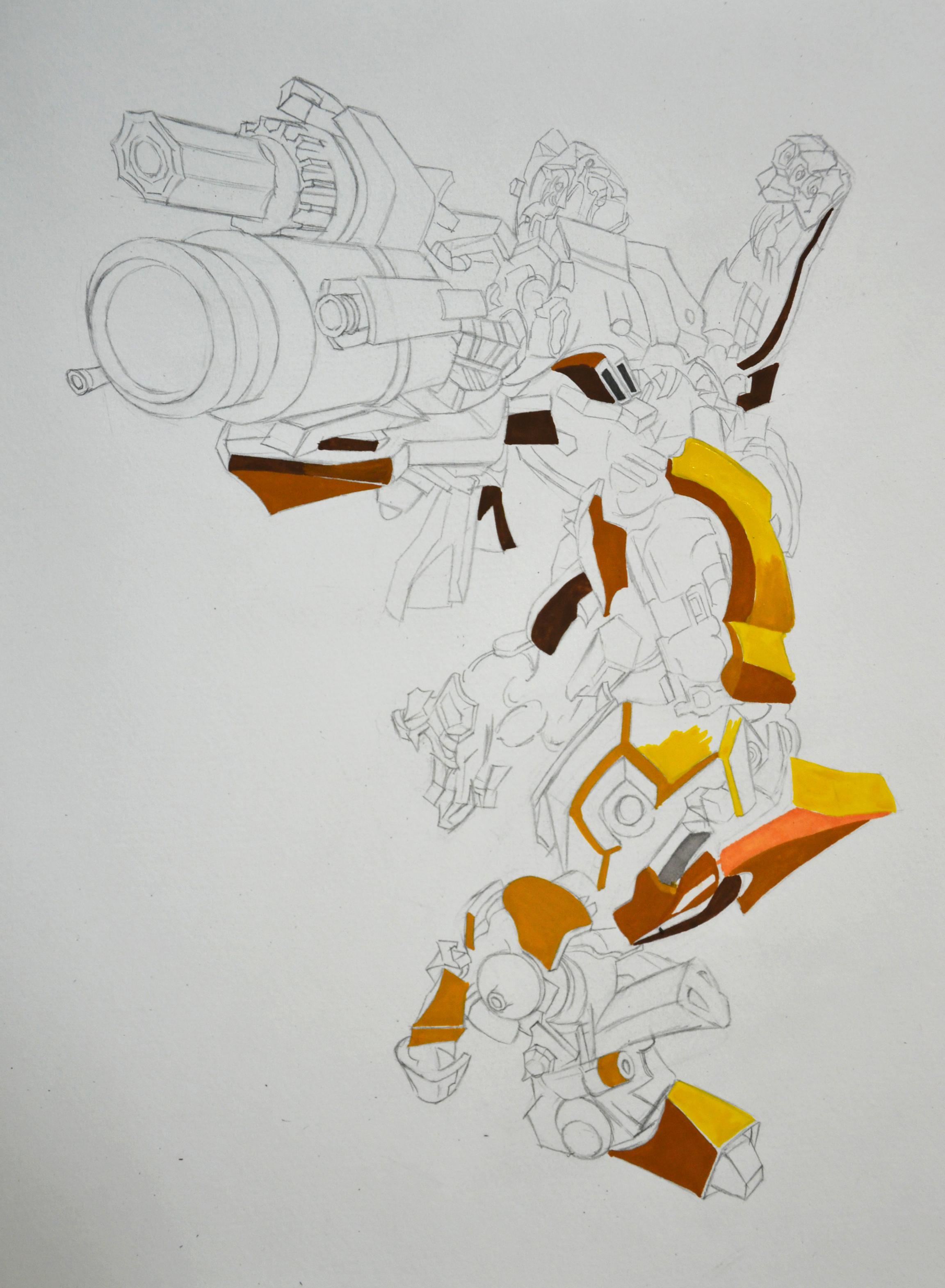 大黄蜂手绘