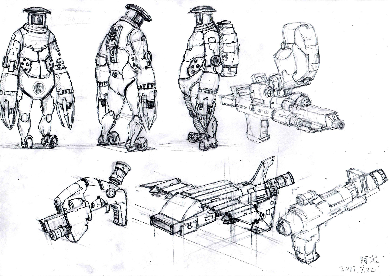 一些怪物机器人设计