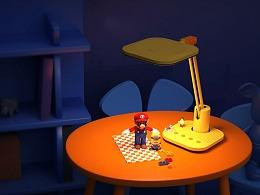 美的儿童台灯-给孩子最好的陪伴|佳简几何设计