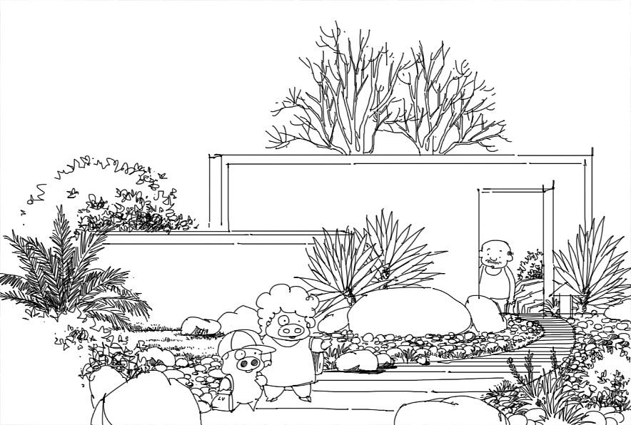 园林设计手绘小景图分享展示