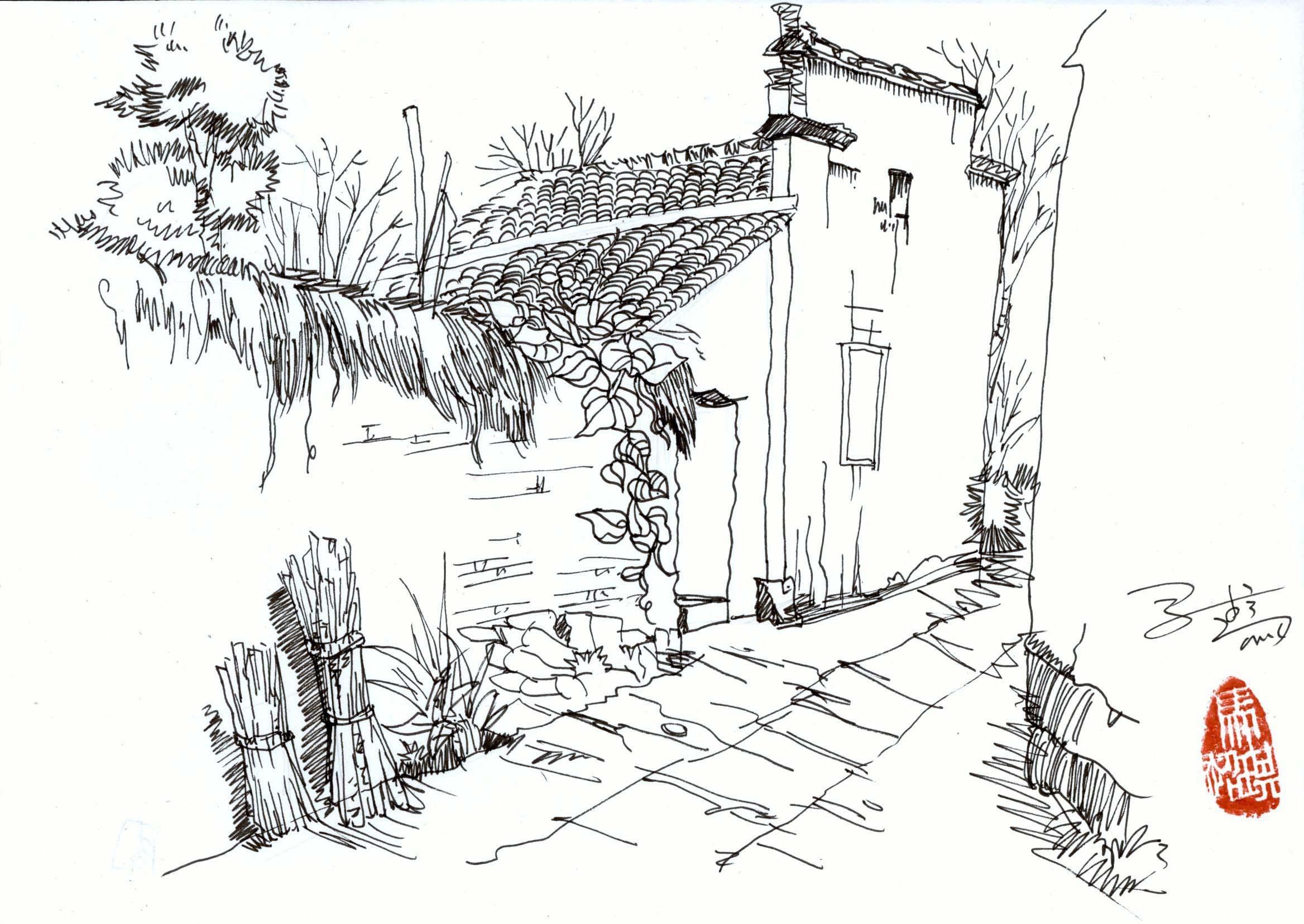 简笔画 手绘 素描 线稿 2336_1656图片