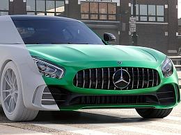 Mercedes AMG GT-R CGI