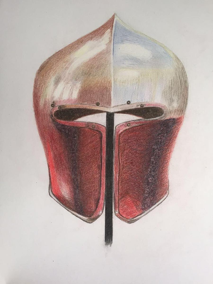 原创作品:手绘头盔