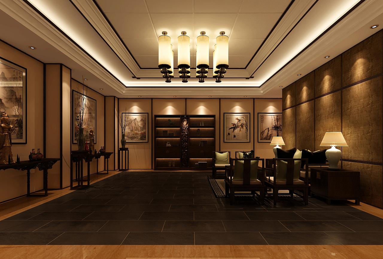 新中式室内设计效果图图片