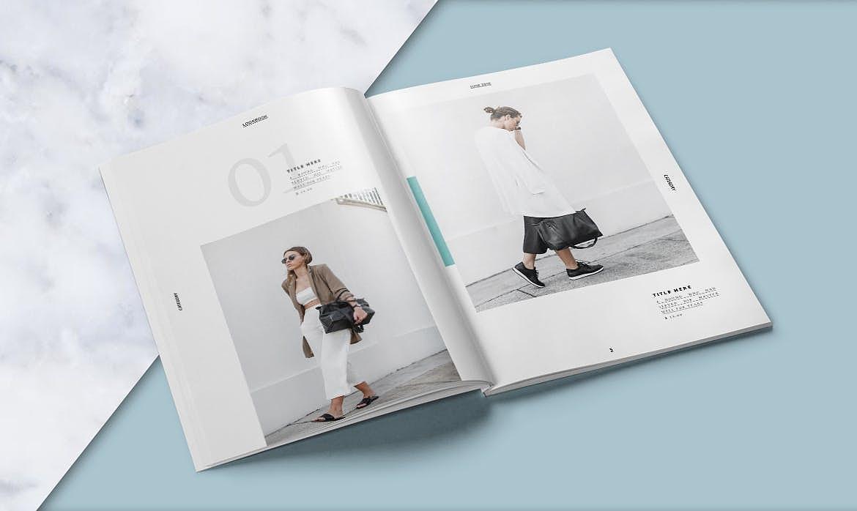 時尚雜志小冊子(含indesign源文件)圖片
