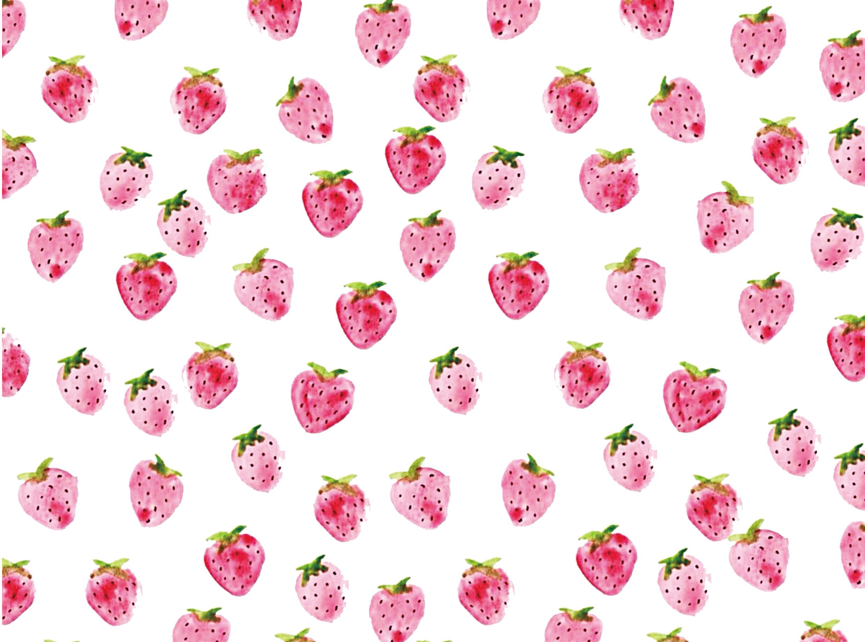 手绘平铺草莓,橘子,荔枝|平面|其他平面|可爱猛兽