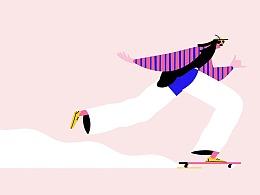 滑板男人   MG动画