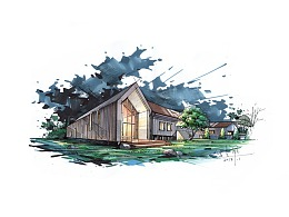 建筑手绘2