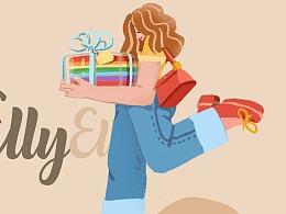爱丽优甜ELLY SWEET | 商业插画 — 藏在盒子里的世界