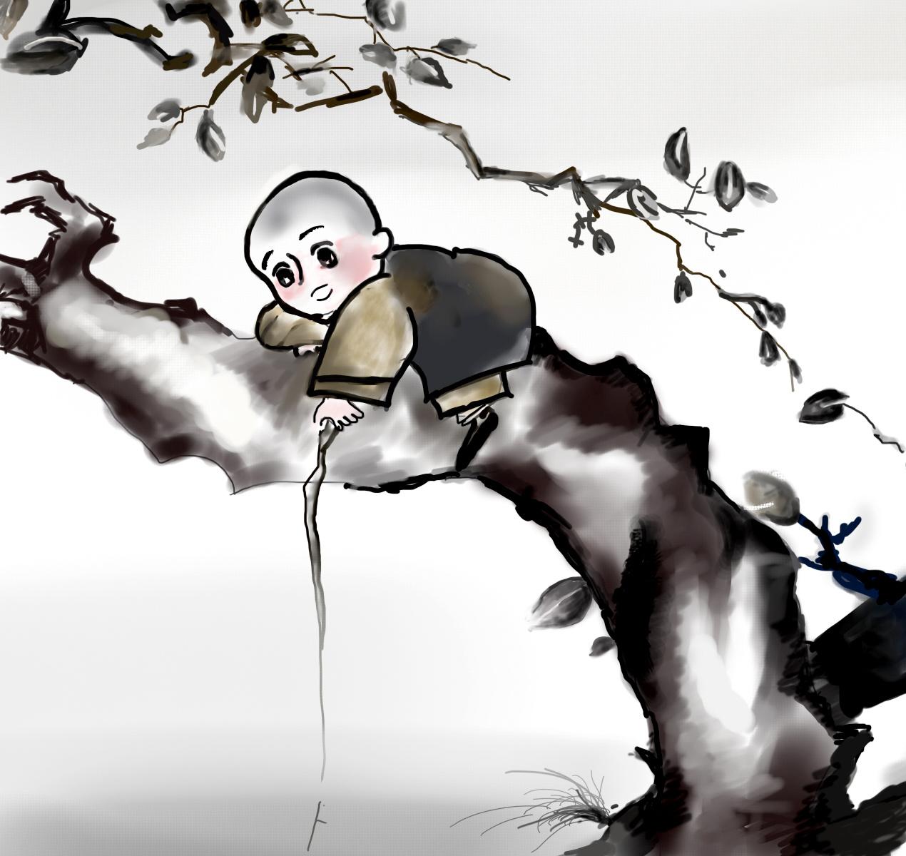 手绘板临摹一禅小和尚|插画|涂鸦\/潮流|violetta0
