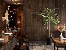 corona渲染-SR餐厅
