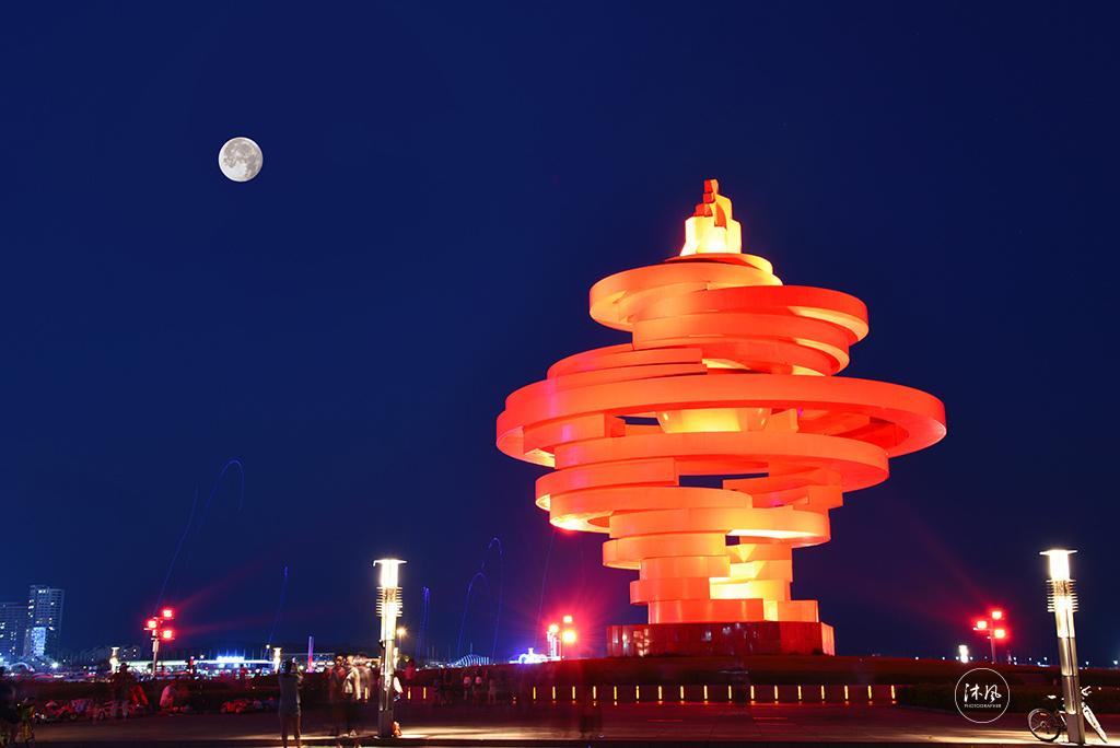 青岛五月的风夜景摄影