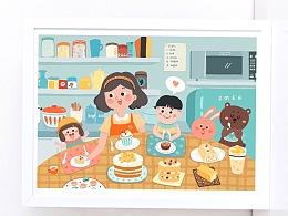 甜品店插画