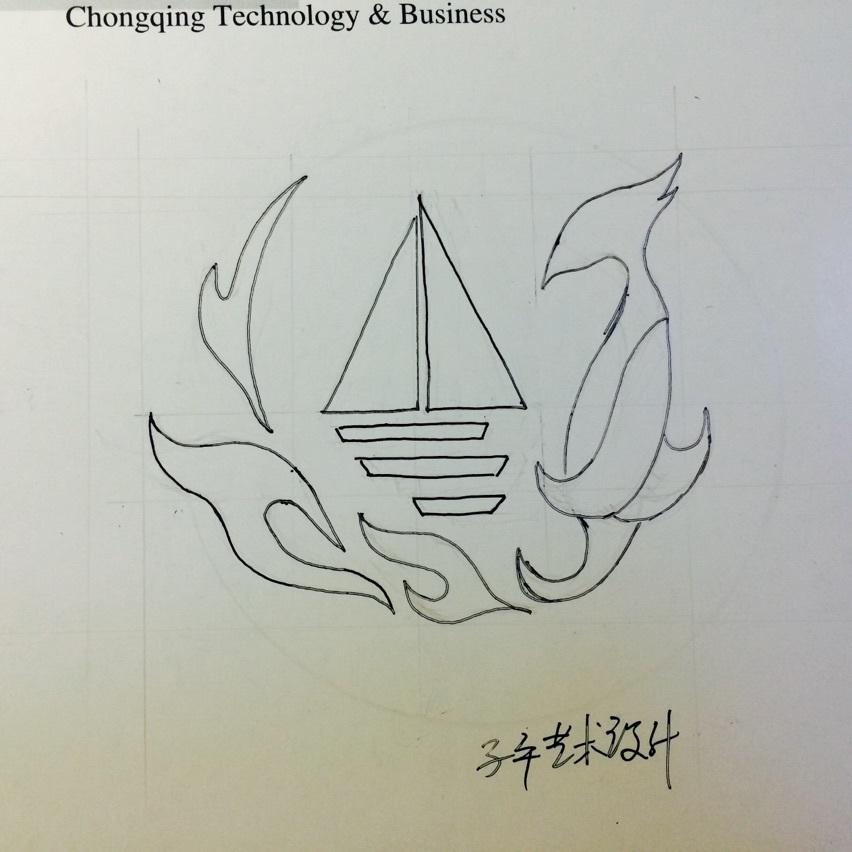 手绘凤凰logo