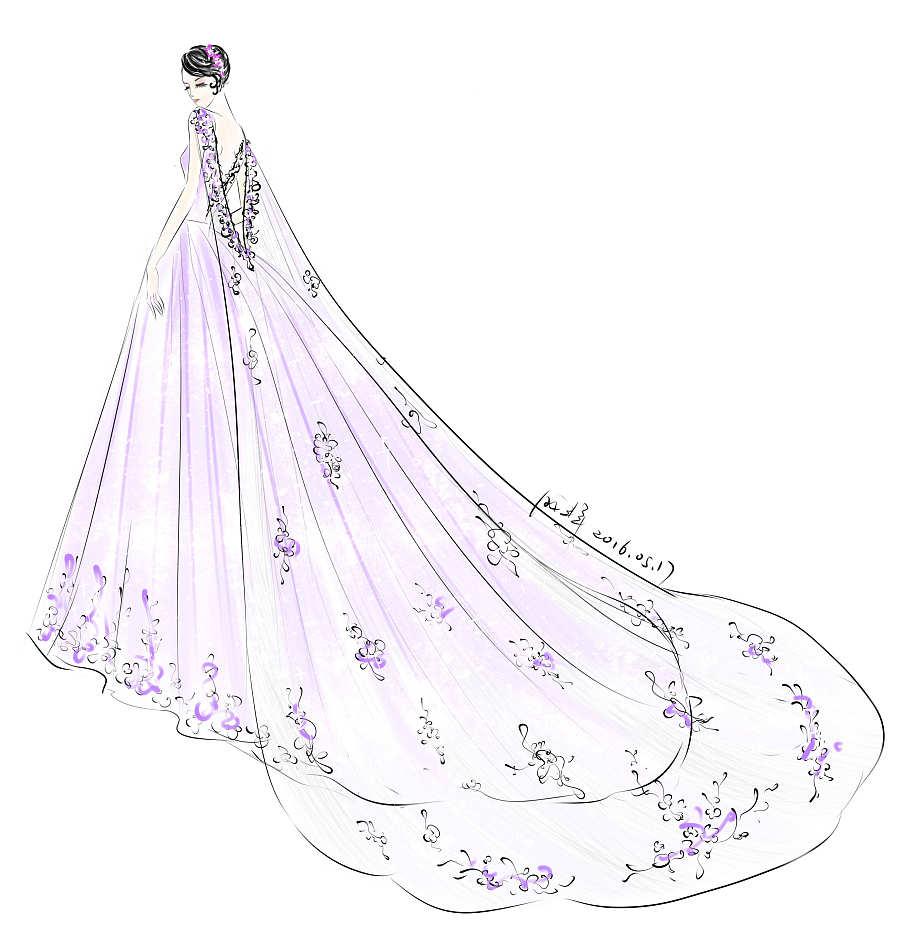 婚纱手绘|正装/礼服|服装|aceyqian - 原创设计作品