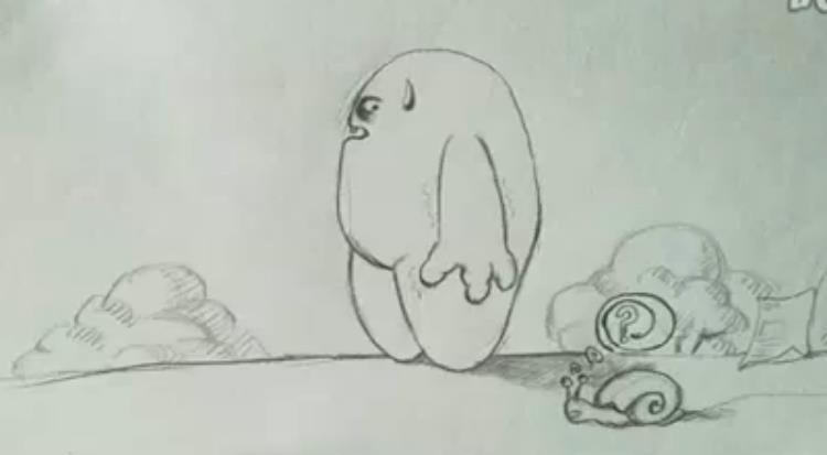 2010年,我大一,第一次做的动画手翻书