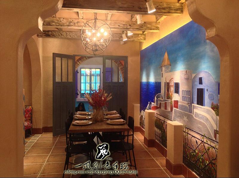 佛山皇磁陶瓷展厅手绘墙/墙体彩绘