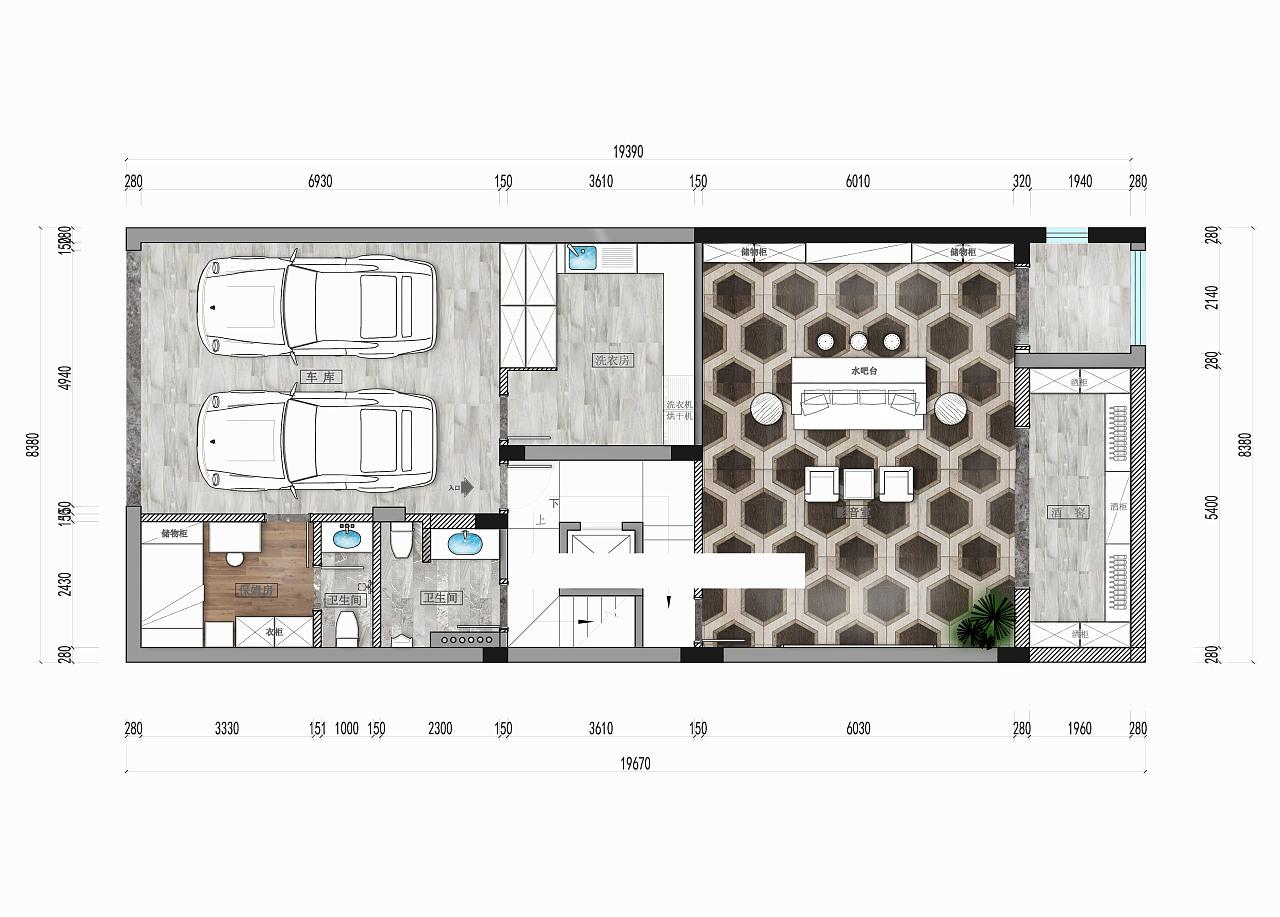 室内设计 / 平面布局方案