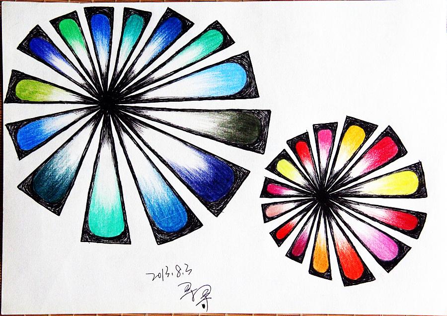 原创——彩铅,手绘,水笔