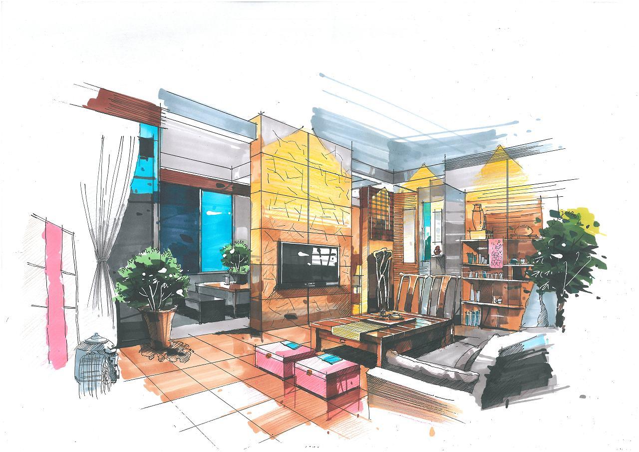 室内设计及其整体设计手绘