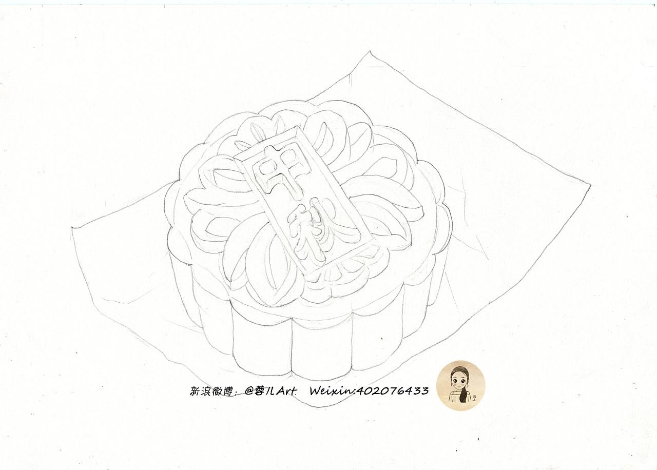 【冰皮月饼】彩铅手绘教程