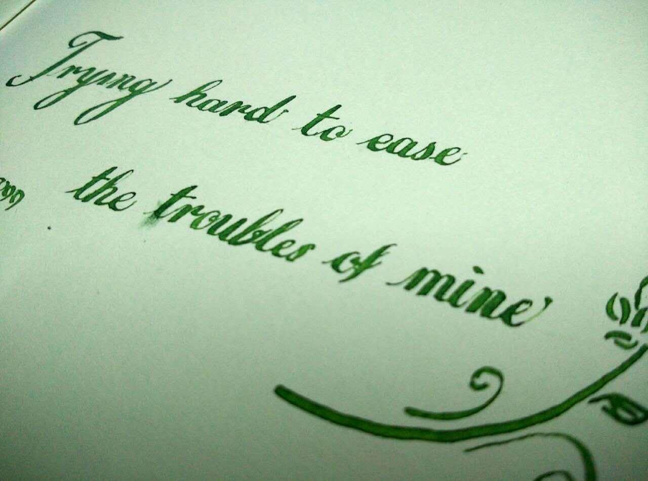 书写一片天地 英文花体字