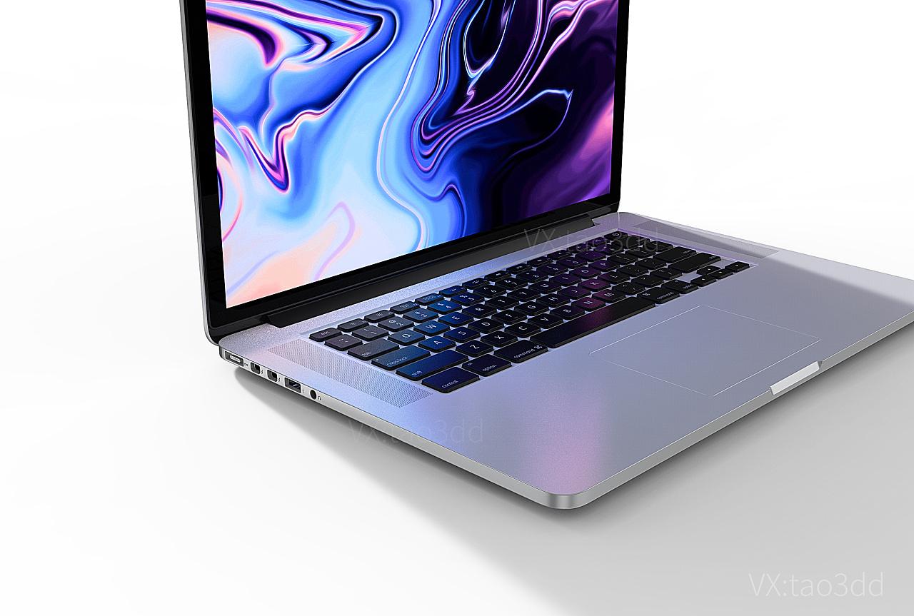 苹果笔记本3d模型_苹果笔记电脑 MacBook Pro 15 3D模型 keyshot渲染 三维 产品 198精品3D ...