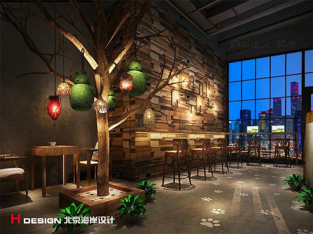 河南平顶山漫猫方案餐饮v方案咖啡|案例|室内设计|海岸农产品包装设计空间图片