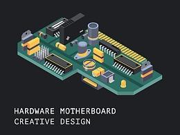 Hardware motherboard creative design