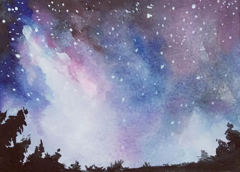 水彩星空|插画|插画习作|crystalnana - 原创作品