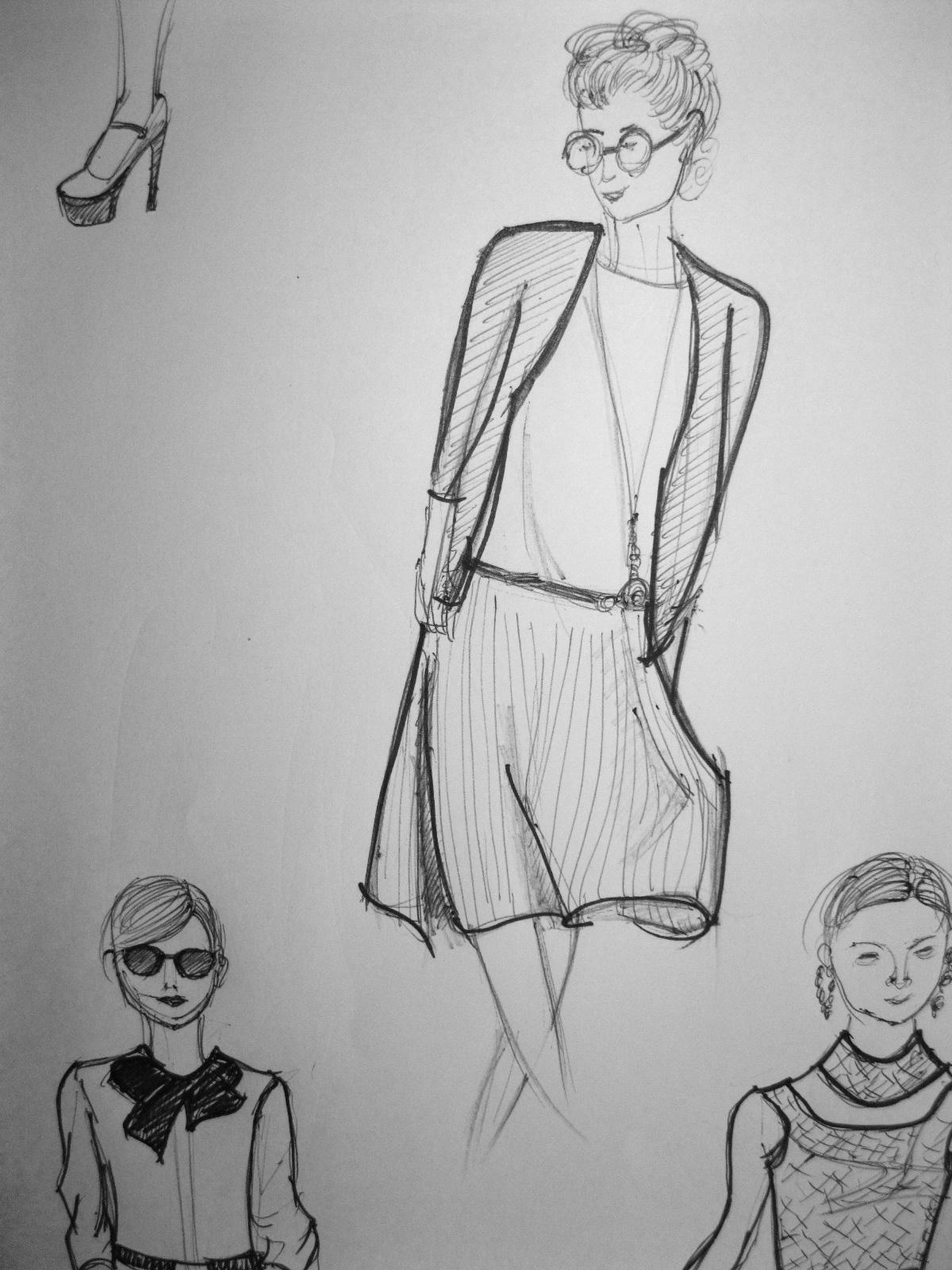 设计图分享 小学生服装设计图手稿 > 服装设计图初图展示  服装设计图