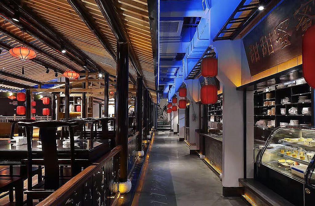 徽宴楼中餐厅装修-自贡专业特色餐厅装修公司图片