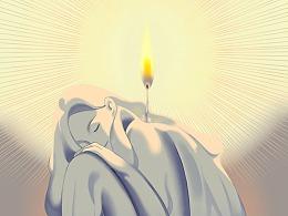 慈善海报插画-Be the light