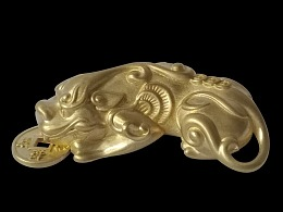 铜貔貅,黄铜貔貅,纯铜貔貅,招财进宝铜貔貅挂饰