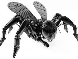 Cinema 4D  机械建模 渲染  战争机器  机械狂蜂