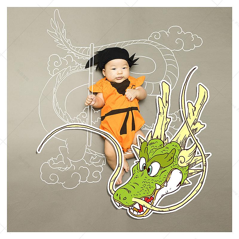 儿童摄影手绘创意