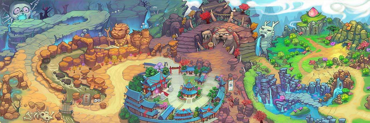 q版地图|插画|游戏原画|赛伦博 - 原创作品 - 站酷